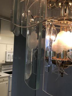 Chandelier With Etched Glass for Sale in Seattle,  WA