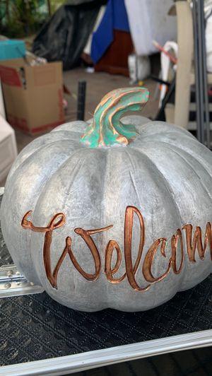 Welcome pumpkin for Sale in Corona, CA