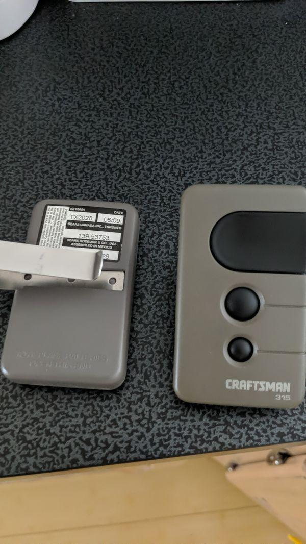 Craftsman garage door opener remote