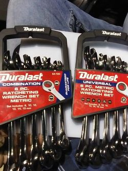 Metric Combination And A Universal Metric Ratcheting Wrench Sets6 for Sale in Las Vegas,  NV
