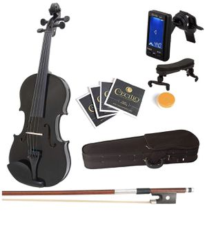 Black Solid Wood Violin for Sale in Brooklyn, NY