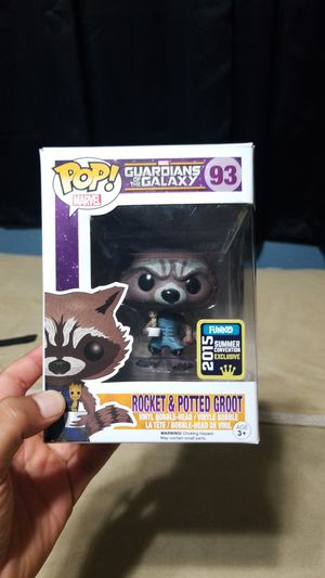 FUNKO POP Marvel Gaurdians of the Galaxy Rocket & Potted Groot (93) for Sale in Industry, CA