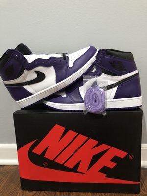 Jordan 1 Court Purple 2.0 Ds Og All Size 10.5 for Sale in Monroe Township, NJ