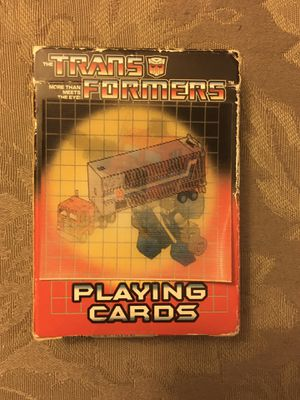 Transformers playing cards 2002 for Sale in Wichita, KS
