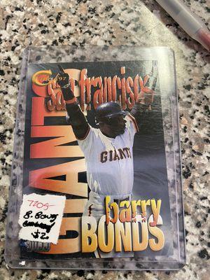 Barry Bonds Baseball Card Giants embossed for Sale in Grapevine, TX