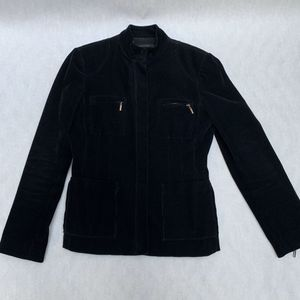 Tahari corduroy motorcycle jacket size small black for Sale in Los Angeles, CA