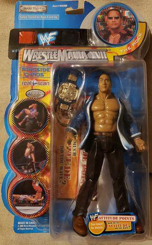 WWF Wrestlemania XVII Ringside Chaos The Rock Jakks Pacific WWE Figure for Sale in El Cajon, CA