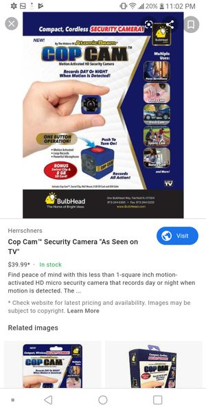 Cop cam for Sale in Anaheim, CA