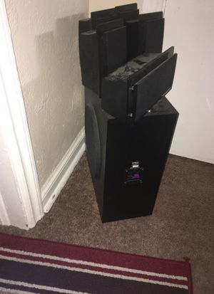Home entertainment speaker set with subwoofer included for Sale in Denver, CO