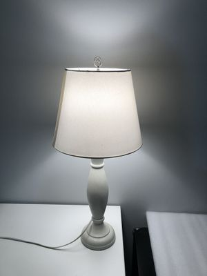 Simple white table lamp for Sale in New York, NY