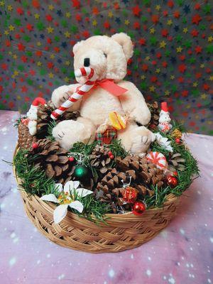 Christmas Pinecone Casket Teddy Bear for Sale in Santa Ana, CA