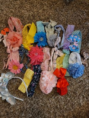 Baby girl hair bows and headbands for Sale in Surprise, AZ