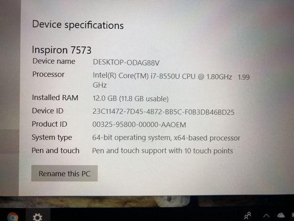 Dell Inspiron 7000/7573 Lap top for Sale in Virginia Beach, VA - OfferUp