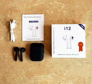 BLACK i12 TWS bluetooth 5.0 headset wireless touch for Sale in Los Angeles, CA