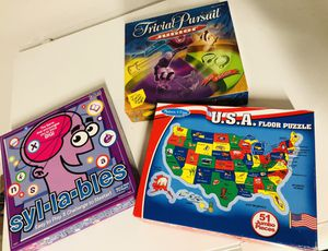 3 Kid's Educational Board Games for Sale in Tampa, FL