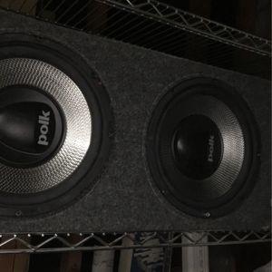 2 10 Inch Polk Audio Subs In Box for Sale in Vallejo, CA
