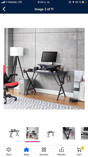 Mainstays Gaming Computer Desk with Spacious Desktop and Elevated Display Shelf, Black Finish for Sale in San Lorenzo, CA