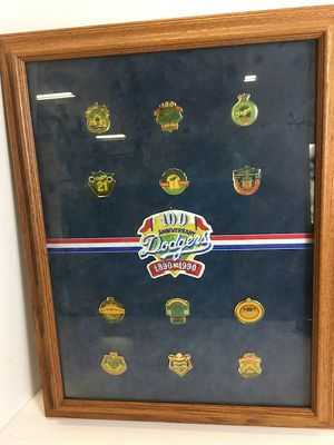 Dodgers pins display from the 90's for Sale in Whittier, CA