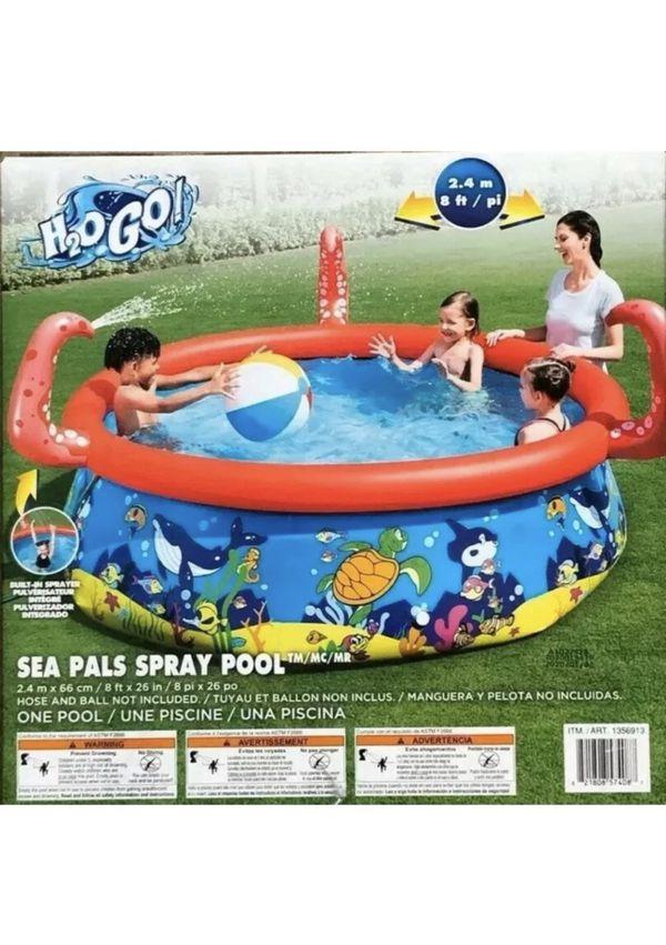 Inflatable Pool Sea Pals Spray Pool H2O Go NEW