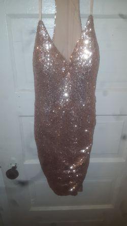 Gold sequin cocktail dress for Sale in Bridgeport,  CT