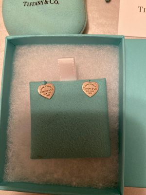 Tiffany & Co Mini Heart Tag Earrings ($125) for Sale in Norwalk, CA