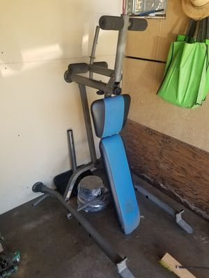 Golds gym bench press/arm curl/leg extension for Sale in Downey, CA