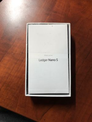 Ledger Nano S Cryptocurrency hardware wallet for Sale in Beachwood, OH