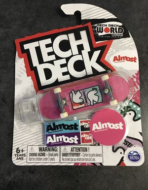 New/sealed Tech Deck ALMOST SKATEBOARDS Fingerboard Pink W/ Doves Rare! World Edition for Sale in Lakewood, CA