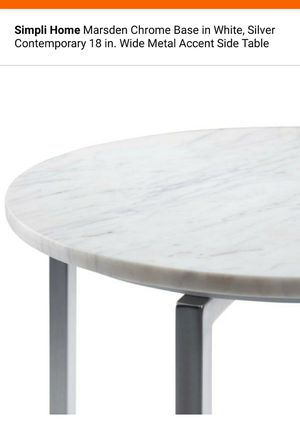 Simpli Home NEW Marble side table for Sale in Oatfield, OR