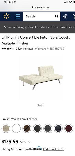 Leather futon sofa for Sale in Lorton, VA