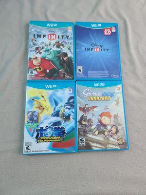 Wii U Bundle Wii U Pokken Tournament, Disney Infinity, Disney Infinity 2.0, Scribblenauts Unmasked for Sale in Hillsboro, OR
