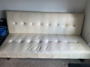 White leather futon for Sale in Miami, FL