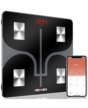 REDOVER-Bluetooth Body Fat Scale with Smartphone App, Smart Wireless Digital Bathroom Scale, Body Composition Analyzer for Body Weight, Body Fat, Mus for Sale in Brooklyn, NY