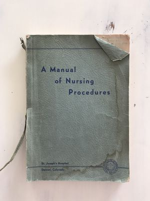 Vintage Nursing Manual for Sale in Arvada, CO