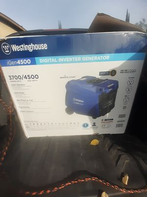 (NEW LOWER PRICE) Igen 4500 Digital Inverter Generator with Remote Start and Rv Outlet for Sale in Modesto, CA