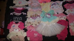 Baby girl long sleeve clothes (NB - 3 months) for Sale in Alexandria, VA