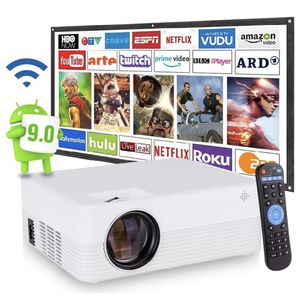 [2021 Upgrade Android WiFi Projector] 6500 Lumens LED Smart Full HD1080P Projector for Sale in Fairfax, VA