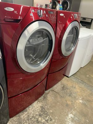 Whirlpool washer large capacity steam dryer electric steam for Sale in Houston, TX
