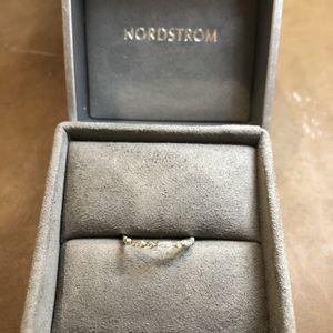Bony Levy 18K Mini Geometric Stacking Ring in White Gold for Sale in Ashburn, VA