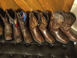 Durango,'Justin's, ariat work or go out boots. Different size, brands and prices for Sale in Houston, TX