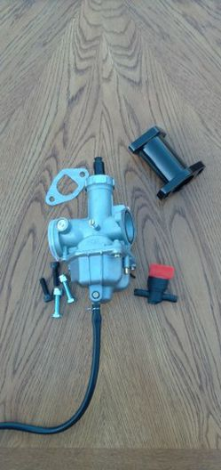 Go Kart / Mini Bike / MiniBike / Go Cart / Dirt Bike (( JETTED )) PZ27 Carburetor & Manifold With Gasket And Hardware for Sale in Carson,  CA