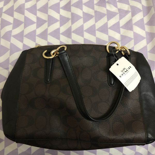 Coach Christie Signature Brown Bag