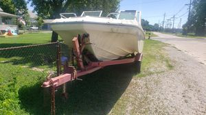 Boat and motor on trailer for Sale in Mitchell, IL