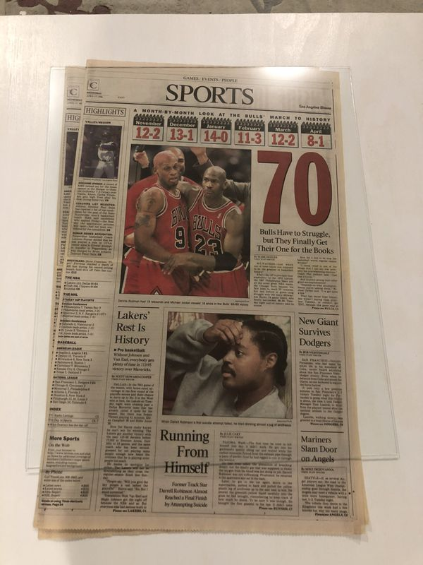 Los Angeles Times 1996 Chicago Bulls newspaper