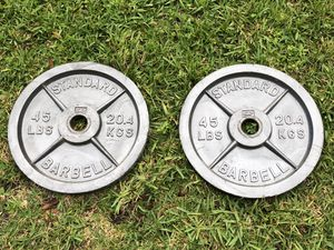 2x 45 lb Barbell Plates for Sale in Miramar, FL