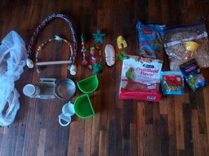 A bunch of used pet bird/mouse cages and supplies for Sale in Tacoma, WA