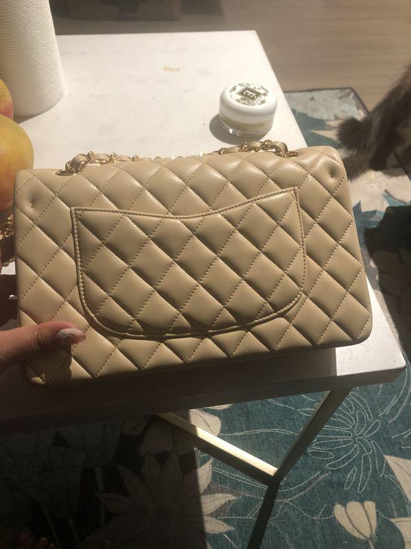 Chanel beige double flap