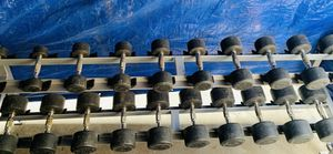 Rubber coated round dumbbells plus rack for Sale in Anaheim, CA