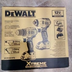 Dewalt Xtreme 2 Tool 12 Volt Max Brushless Power Tool Combo Kit for Sale in Sloan, NV
