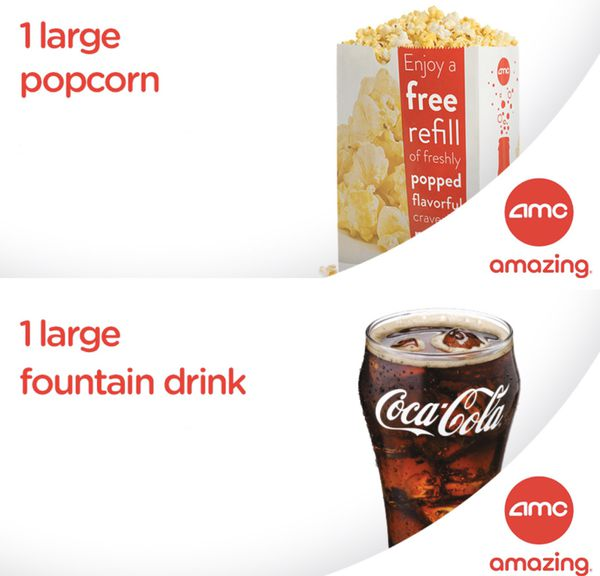 AMC Movie Theater Tickets for any movie admission NO RESTRICTIONS $10 each Up to 9 tixs available FREE LARGE POPCORN or LARGE SODA